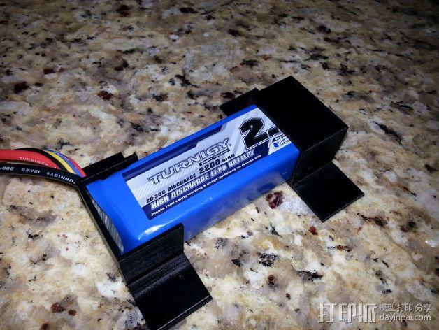 SK 450电池固定夹 3D模型  图2