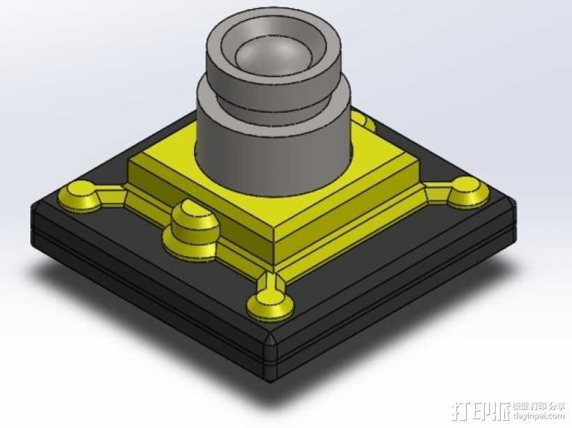FPV相机外壳  3D模型  图1