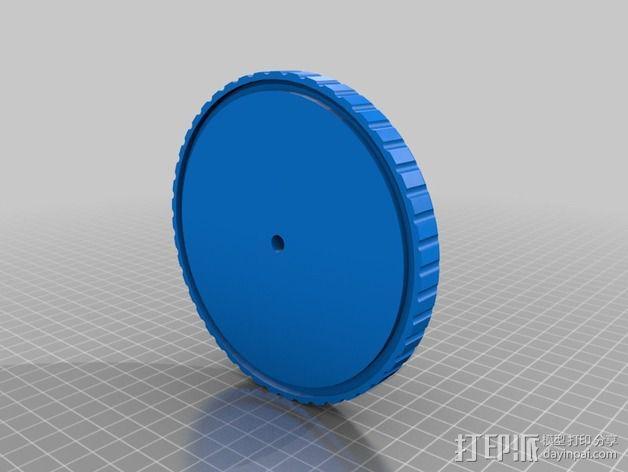 乙烯基塑料唱片 贴纸保护罩 3D模型  图2