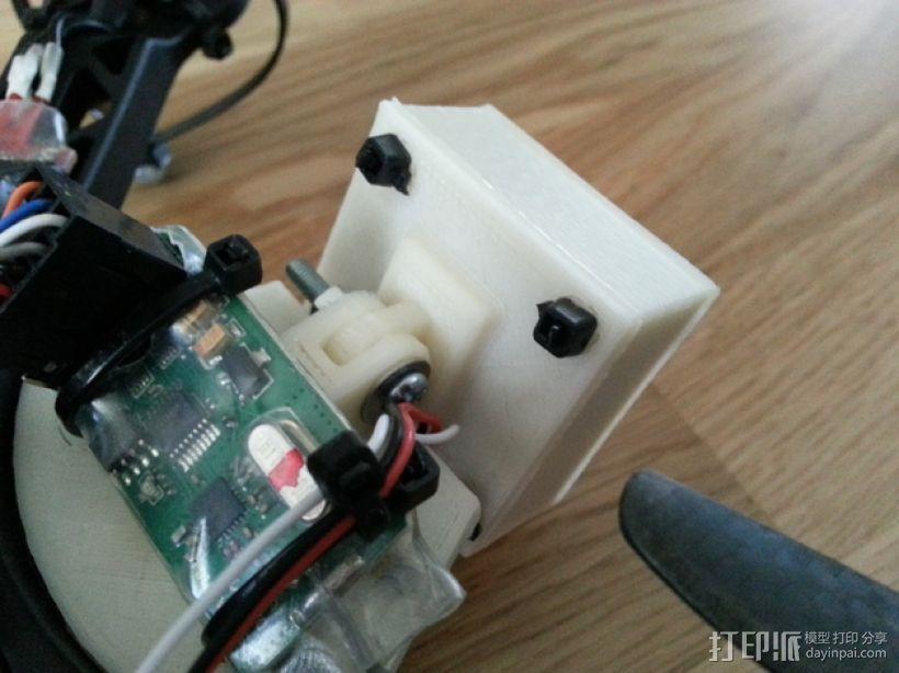 FPV250相机支架 3D模型  图2