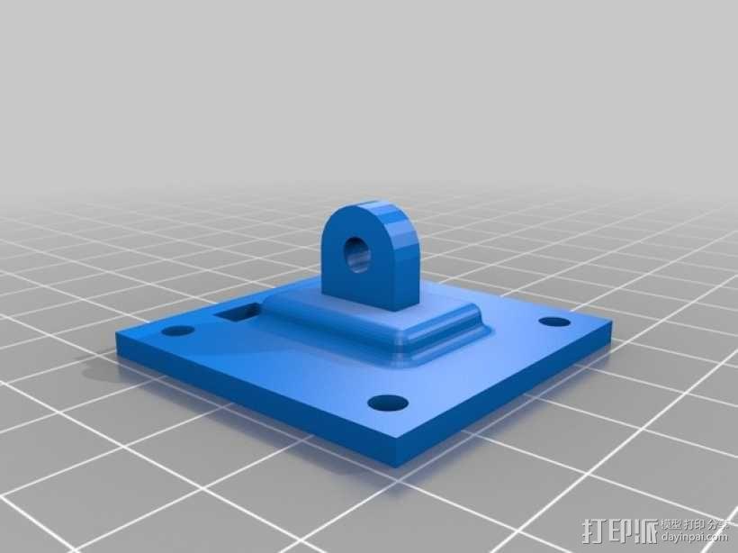 FPV250相机支架 3D模型  图4