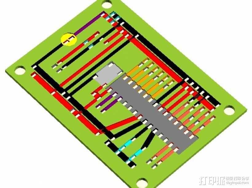 SCADuino电路板 3D模型  图3
