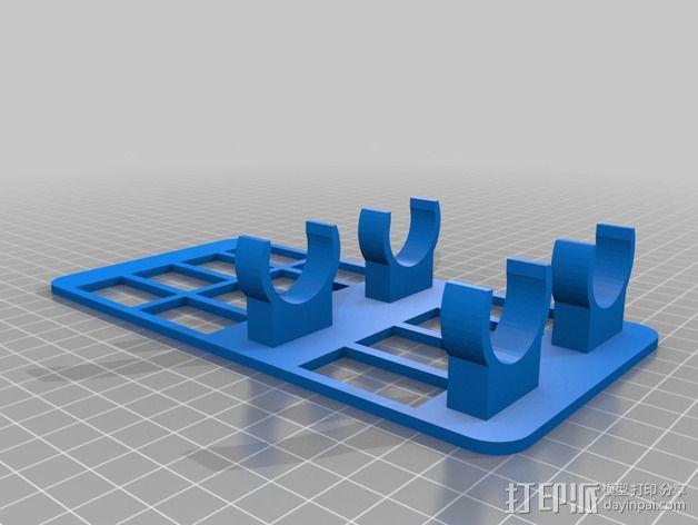 水族池加热器支架 3D模型  图2
