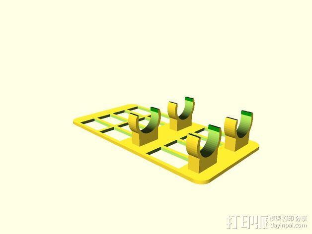 水族池加热器支架 3D模型  图3
