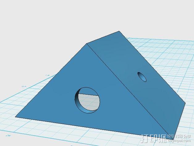 遥控飞机 马达架 3D模型  图3