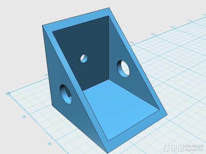 遥控飞机 马达架 3D模型  图1