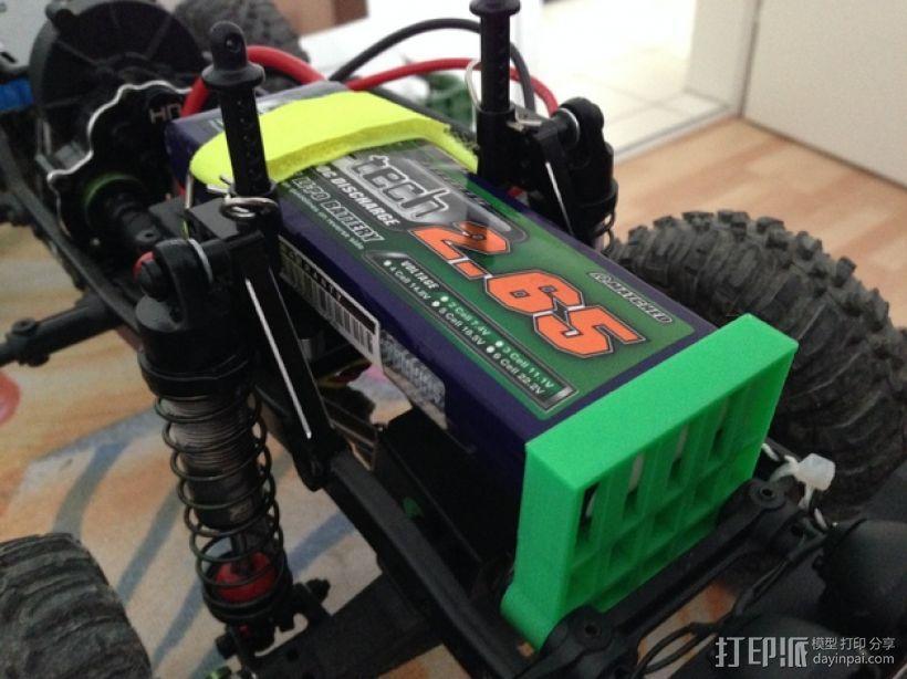 Axial SCX10遥控攀爬车 电池支架 3D模型  图1