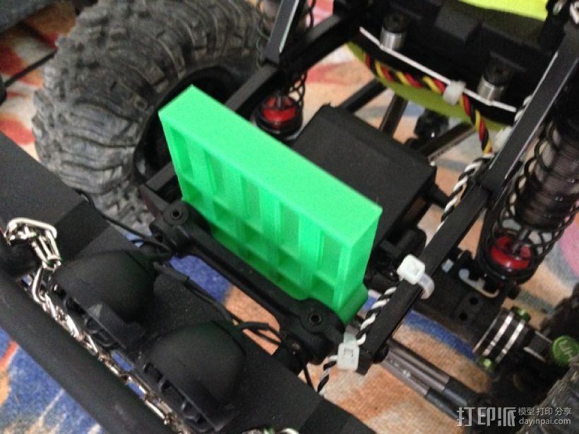 Axial SCX10遥控攀爬车 电池支架 3D模型  图3