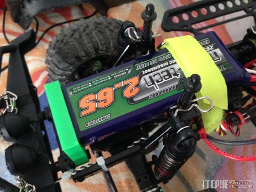 Axial SCX10遥控攀爬车 电池支架 3D模型  图4