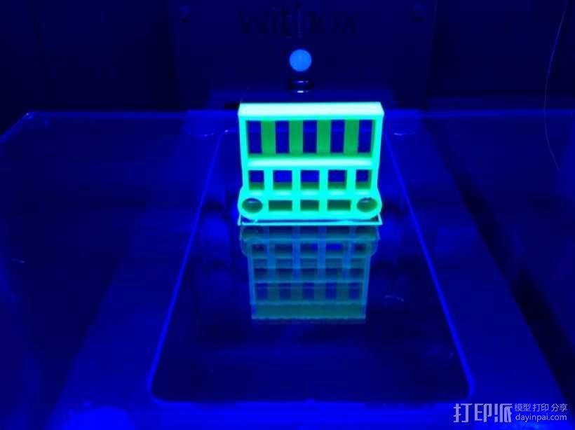 Axial SCX10遥控攀爬车 电池支架 3D模型  图7