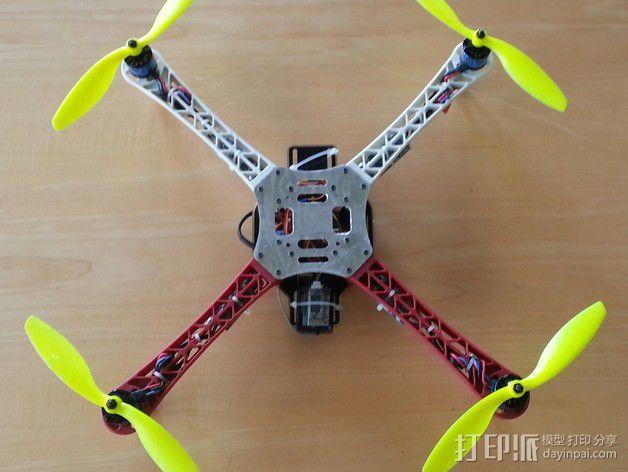 Hobbyking Q450四轴飞行器顶板 3D模型  图2