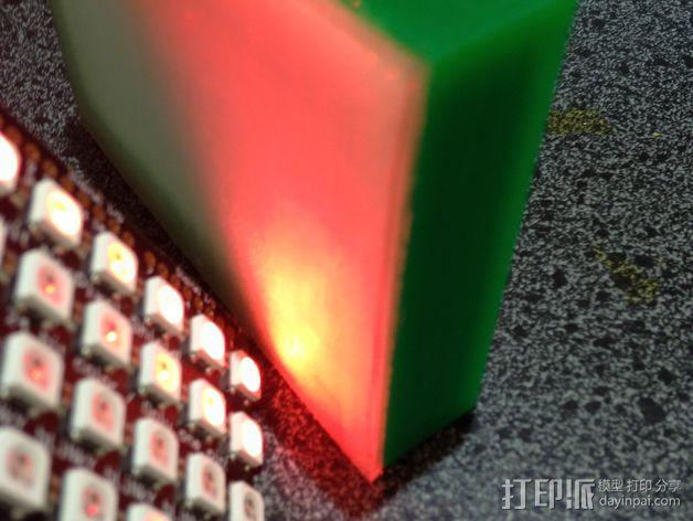 Adafruit NeoPixel发光板 边框 3D模型  图8