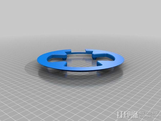 Shimano山地车 链条保护套 3D模型  图2