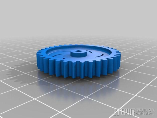 钓鱼绕线轮  3D模型  图2