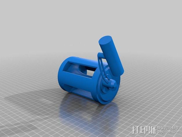 钓鱼绕线轮  3D模型  图4