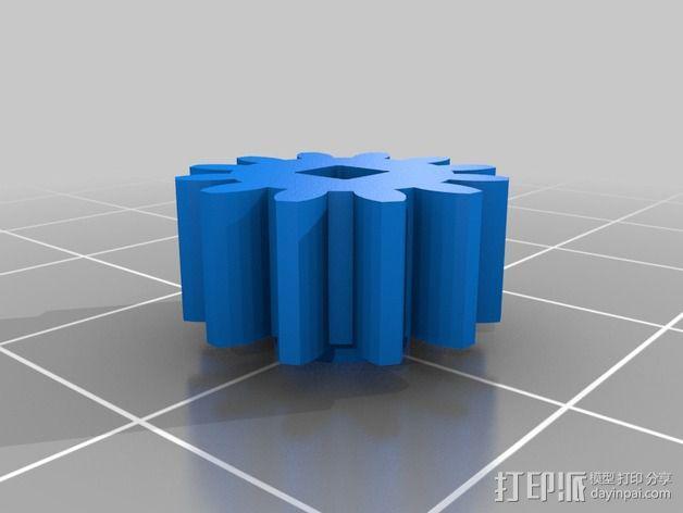 钓鱼绕线轮  3D模型  图3