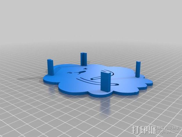 肿泡泡公主 树莓派外壳 3D模型  图2