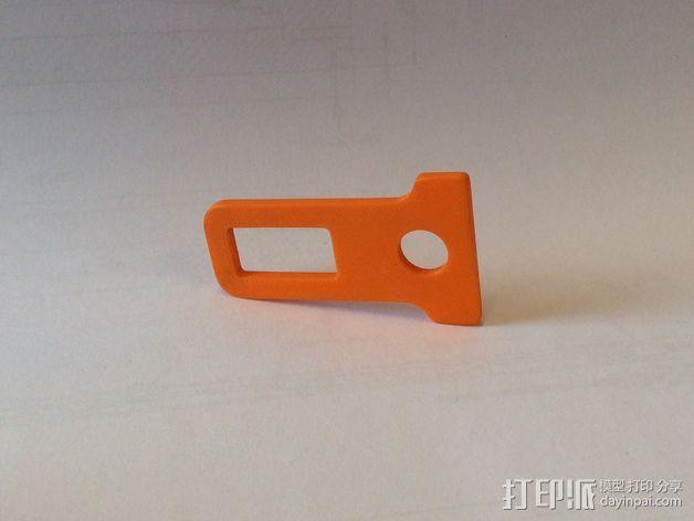 带扣 钥匙扣 3D模型  图2
