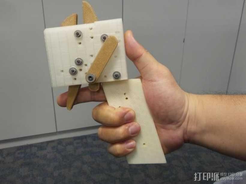 十字弓 触发装置 3D模型  图1