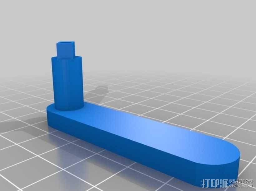十字弓 触发装置 3D模型  图10