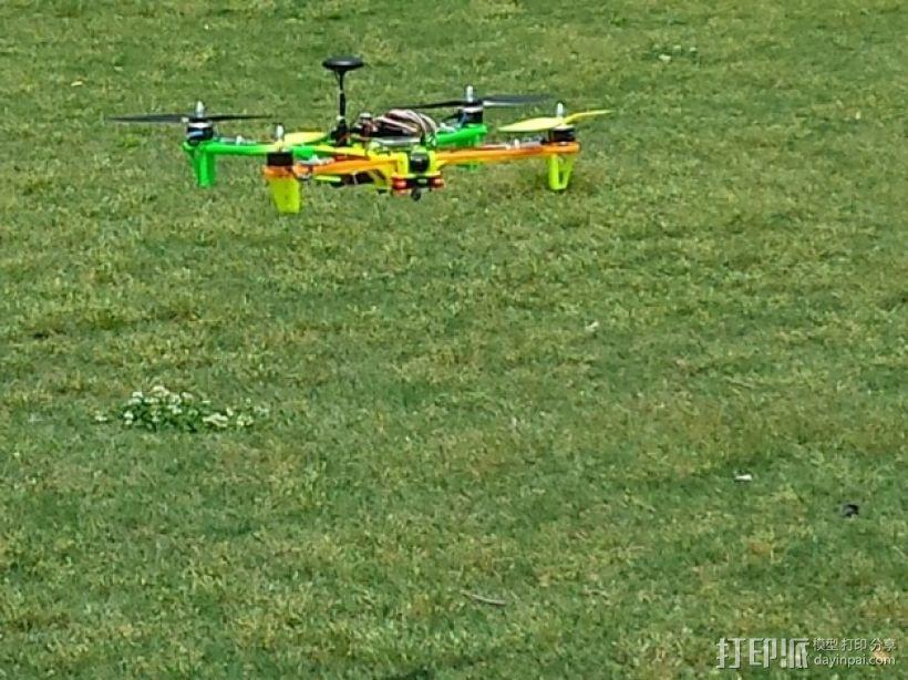 Spyda 500四轴飞行器 相机支架 3D模型  图4