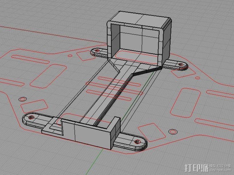 电池托盘 3D模型  图1