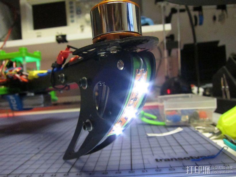 X525 V3四轴飞行器 LED灯条架 3D模型  图1