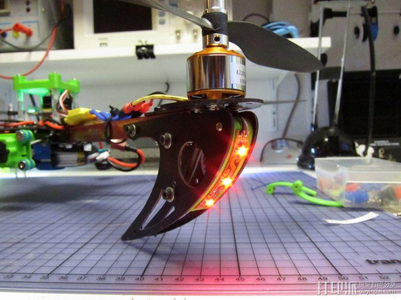 X525 V3四轴飞行器 LED灯条架 3D模型  图4