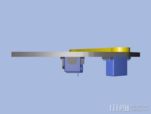 蜘蛛机器人腿部 3D模型  图4