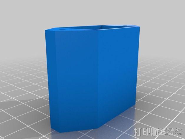 电脑电源后盖 3D模型  图2