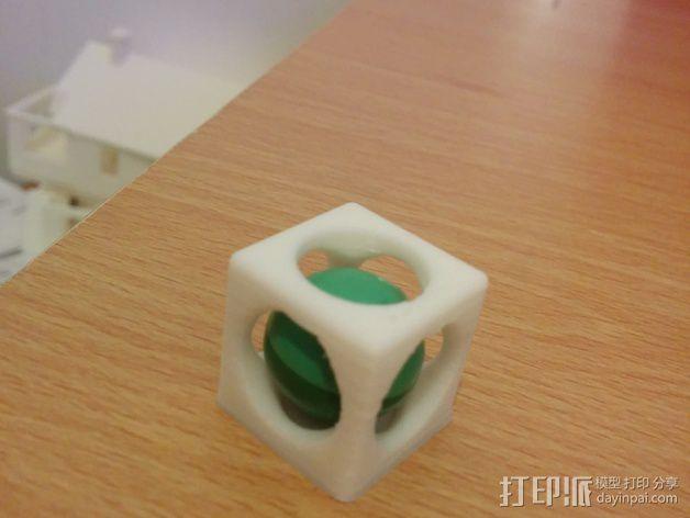 彩弹射击游戏纪念品 3D模型  图1