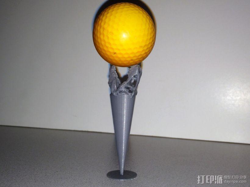 霸王龙 高尔夫球钉 3D模型  图1