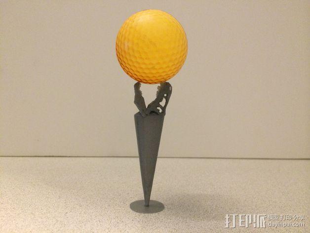 霸王龙 高尔夫球钉 3D模型  图5