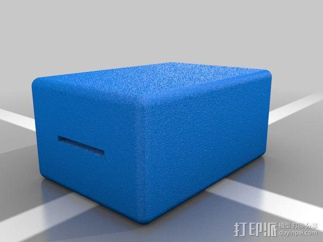 9伏电池保护罩 3D模型  图2