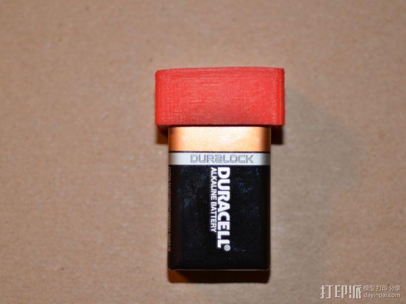 9伏电池保护罩 3D模型  图1