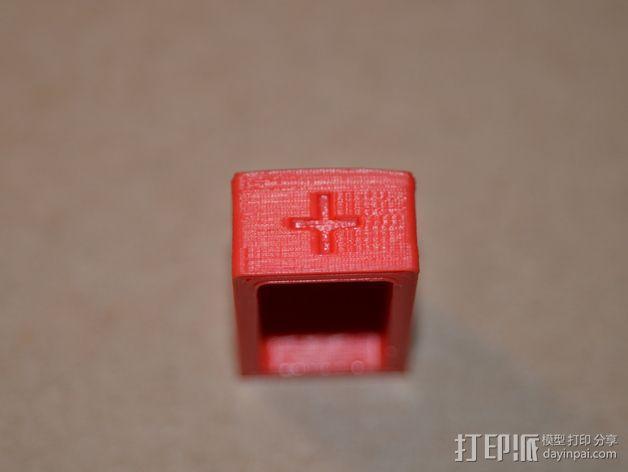 9伏电池保护罩 3D模型  图4