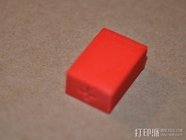 9伏电池保护罩 3D模型  图5