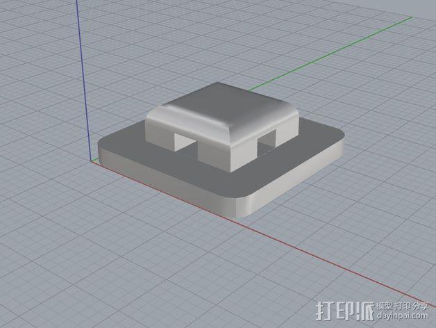 尼龙扎带 衬垫 3D模型  图1