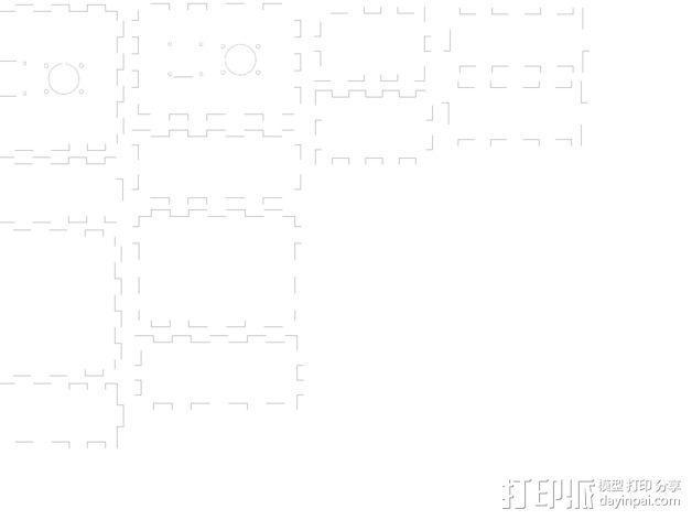 Arduino Uno无线游戏控制器 3D模型  图2