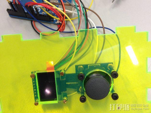 Arduino Uno无线游戏控制器 3D模型  图3