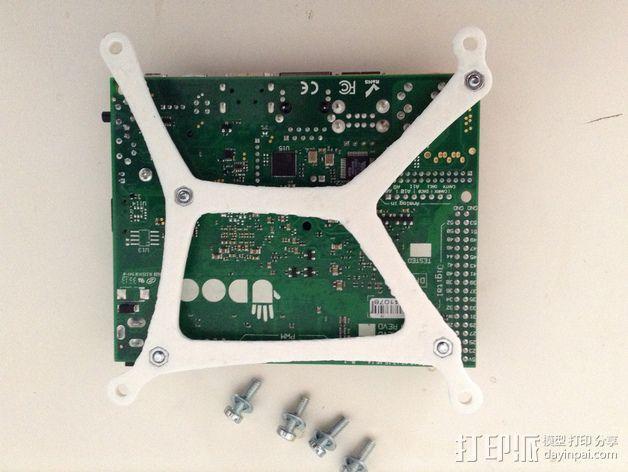 UDOO电路板底座 3D模型  图4