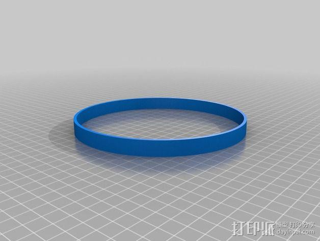 刺绣品 边框 3D模型  图3