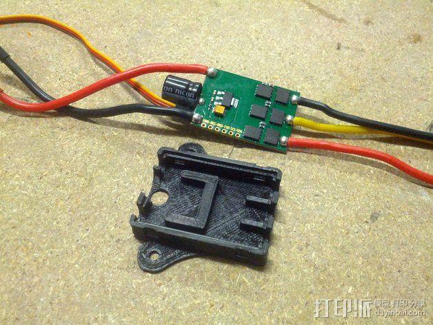 Afro 30A ESC电路板外壳 3D模型  图5
