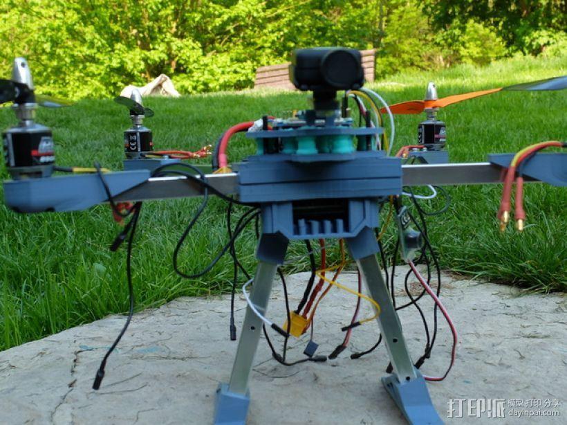 四轴飞行器v1 3D模型  图4