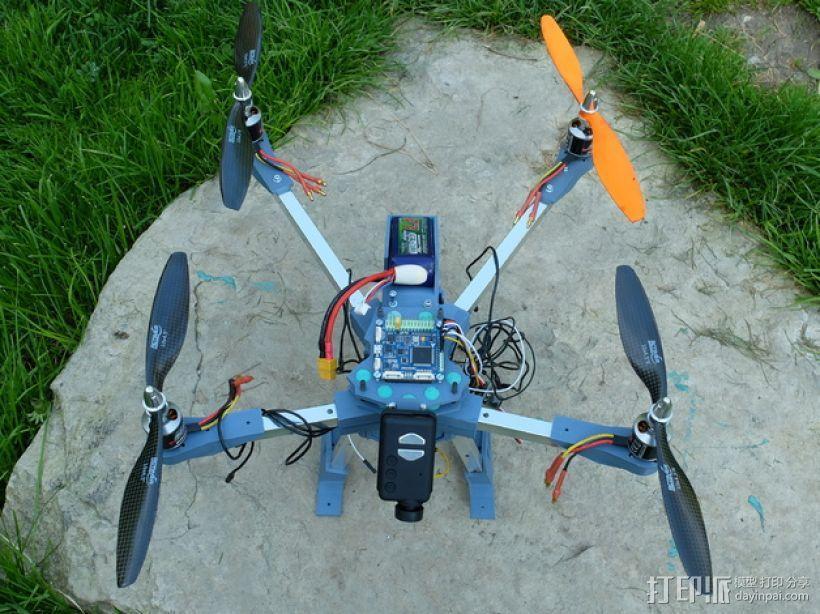 四轴飞行器v1 3D模型  图7