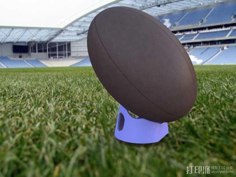 橄榄球 球座 3D模型  图1