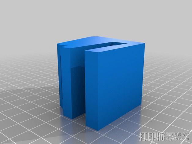 滑板 小旗支架 3D模型  图3