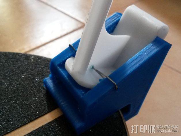 滑板 小旗支架 3D模型  图4
