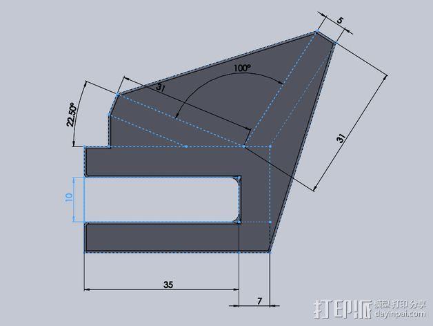 滑板 小旗支架 3D模型  图9