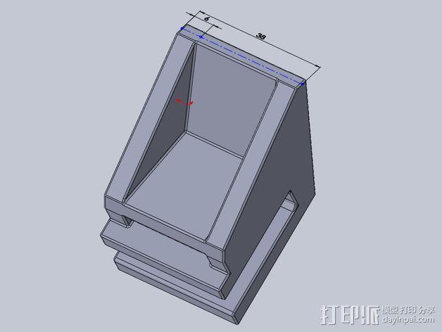 滑板 小旗支架 3D模型  图8